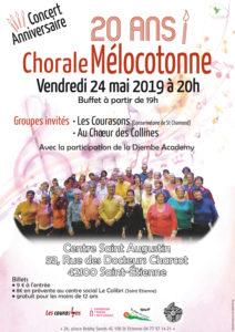 Affiche du concert des 20 ans, mai 2019