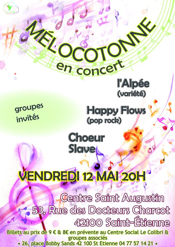 Affiche concert en mai 2017